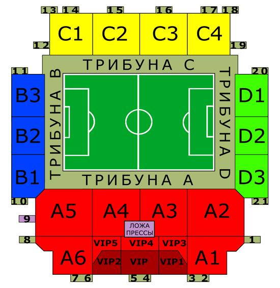 Билеты на стадион арена Химки