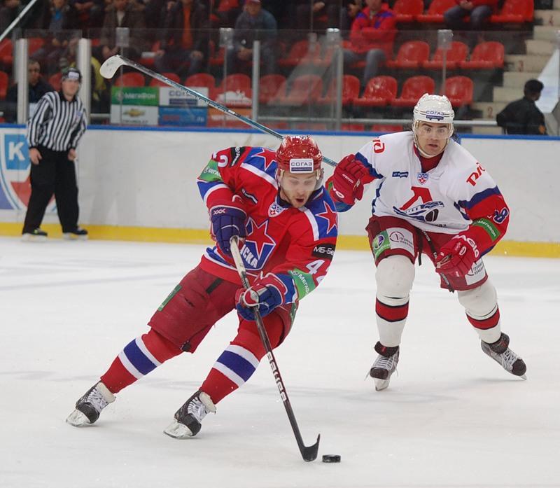 хоккейный матч ЦСКА-Локомотив