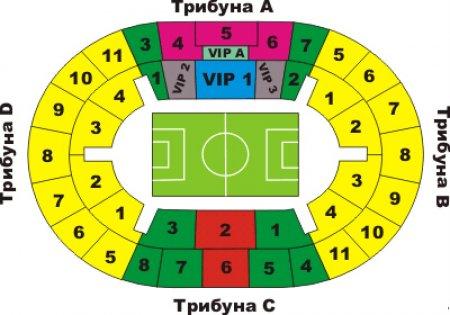 Стадион Лужники схема